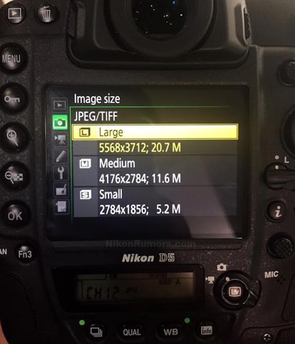 Nikon D5 画像サイズ設定