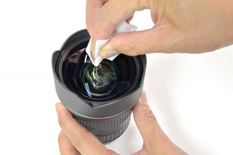 劇落ちカメラレンズクリーナー レンズ拭き取り例