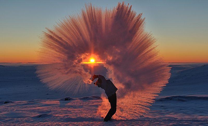 北極圏でお茶をぶちまける
