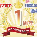 Amazing Graph祝1周年&月間100万PV達成!