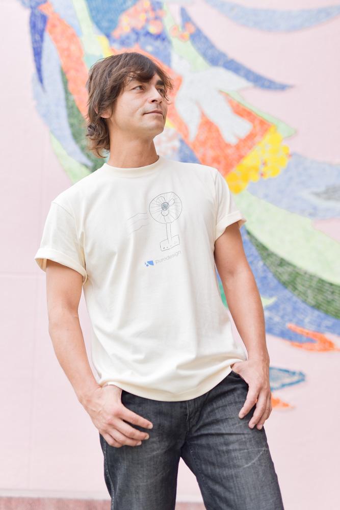 鮎貝健さん_Tシャツモデル撮影