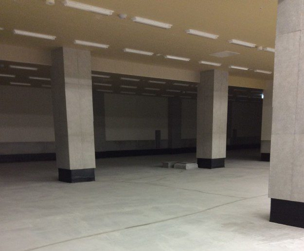 豊洲市場 加工パッケージ棟4階 柱