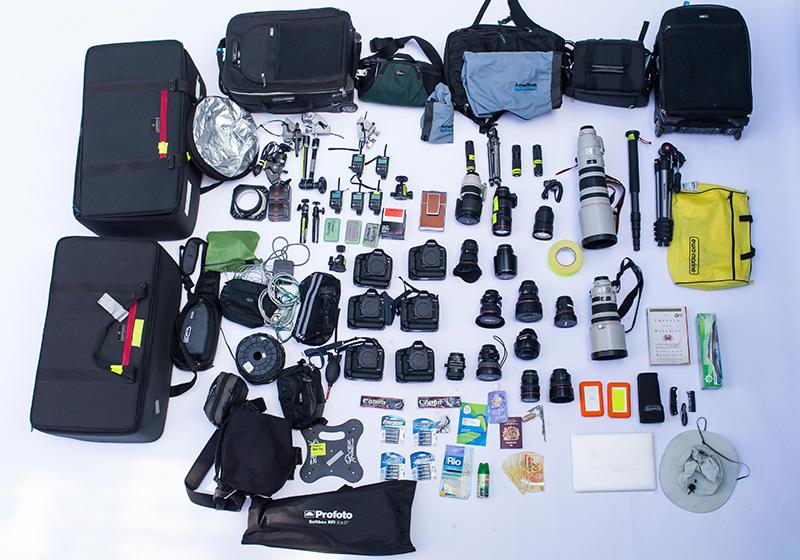 オリンピックカメラマン機材