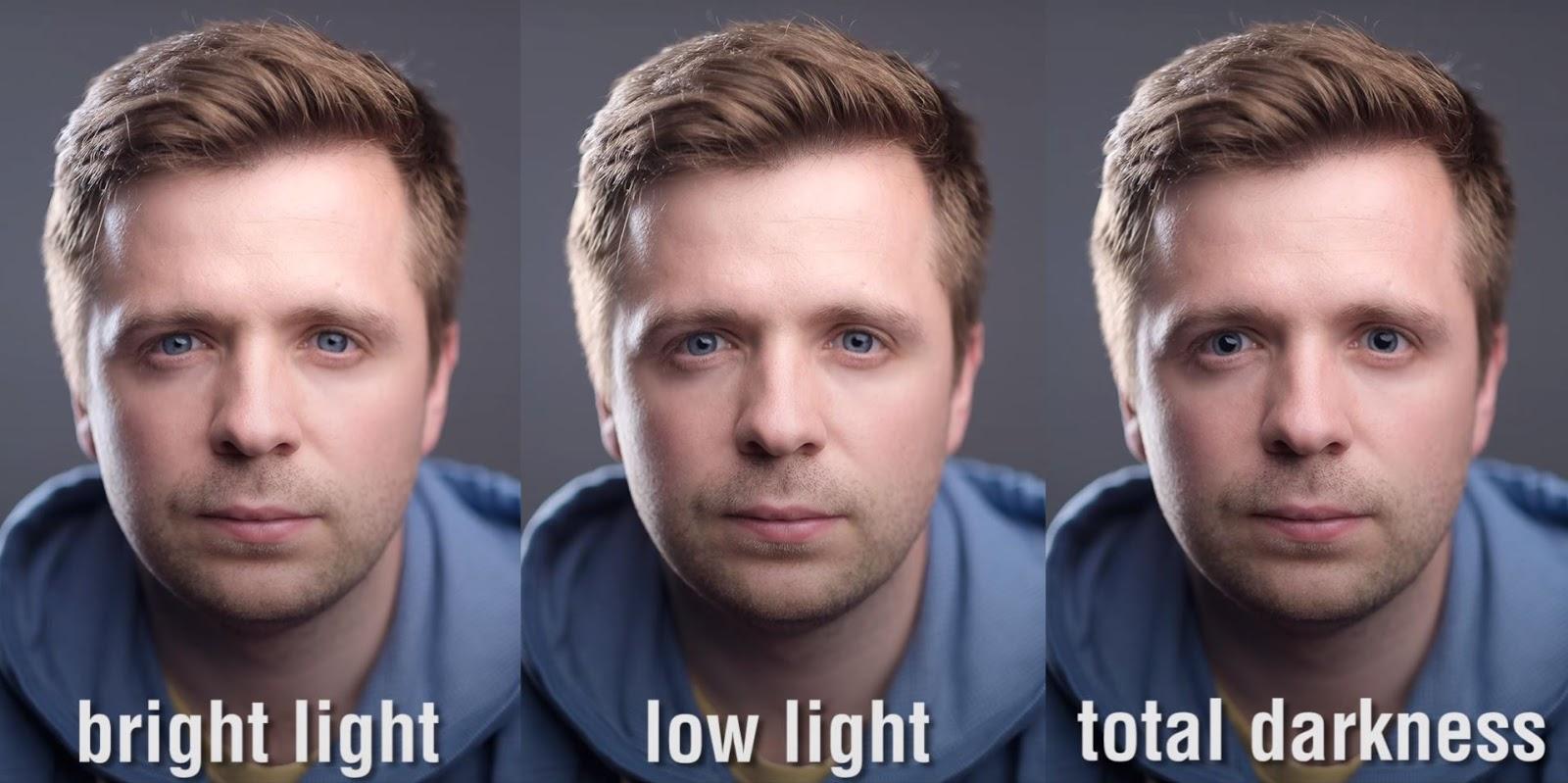 ポートレート 瞳孔の大きさ