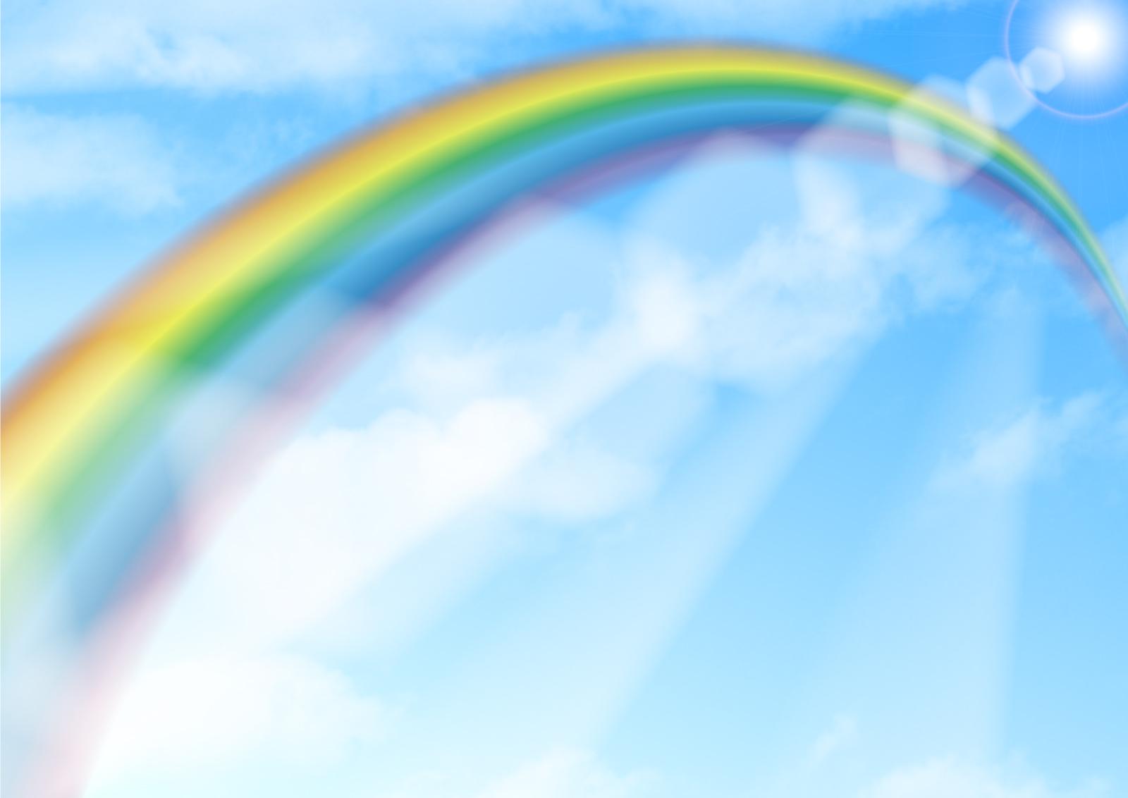 PLフィルターで反射を目立たせて虹の撮影