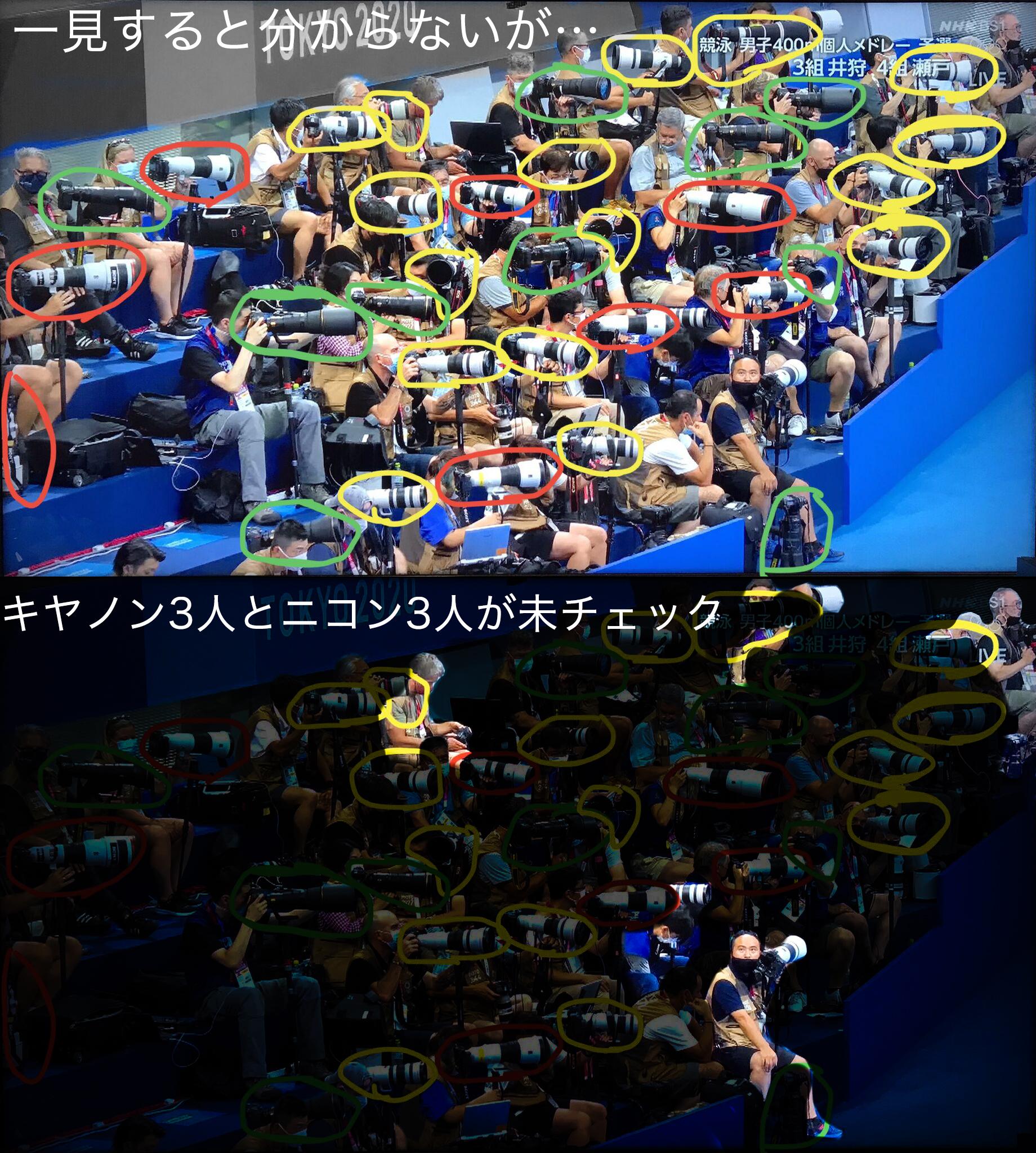 東京2020オリンピック カメラマン フェイク画像